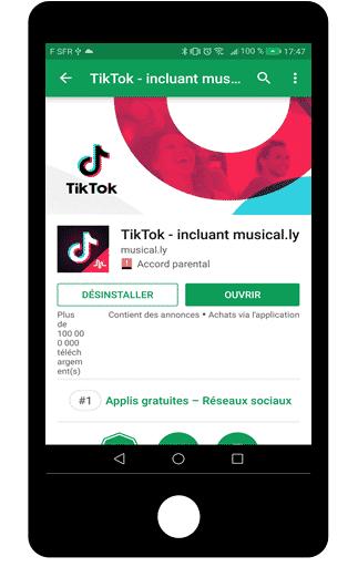 Installer l'application Tik Tok