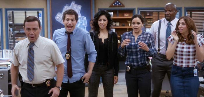Boyle, Perlata, Diaz, Santiago, Terry et Gina - Brooklyn Nine Nine