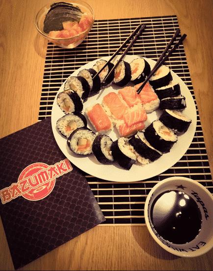 Une soirée sushis maison réussie, Makis et Nigiris et même shirashis avec Bazumaki
