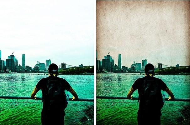 Photo retouchée avec Photoshop Express - Effet Grunge