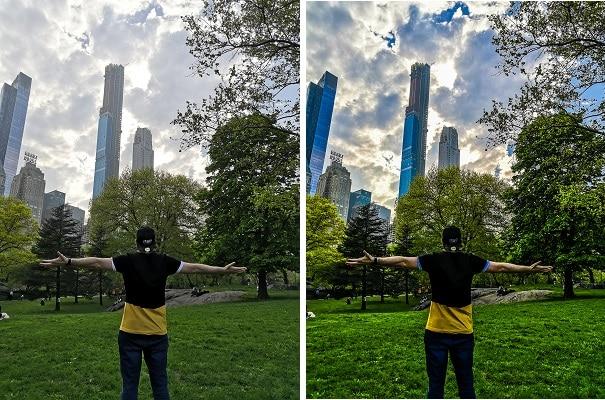 Central Park avec une effet renforcement Nature