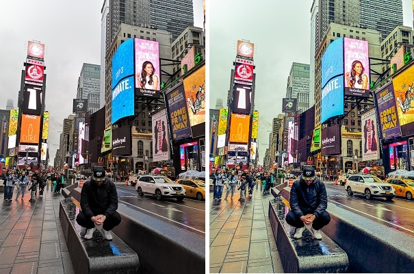 Time Square encore plus lumineux avec le filtre éclat