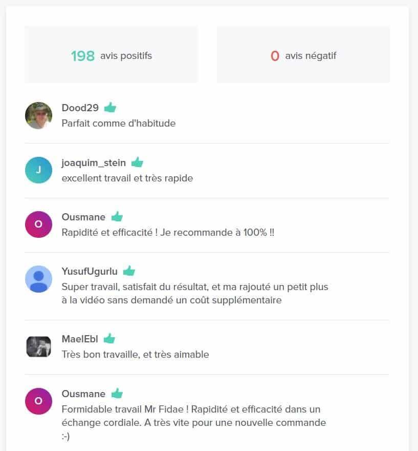 Possibilité de lire les avis des utilisateurs sur 5euros.com