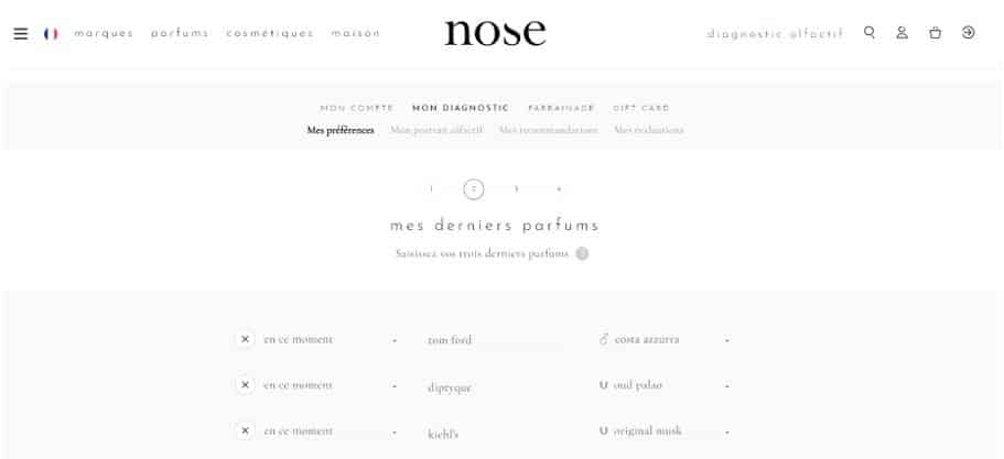 Creer son profil sur le site de Nose Paris