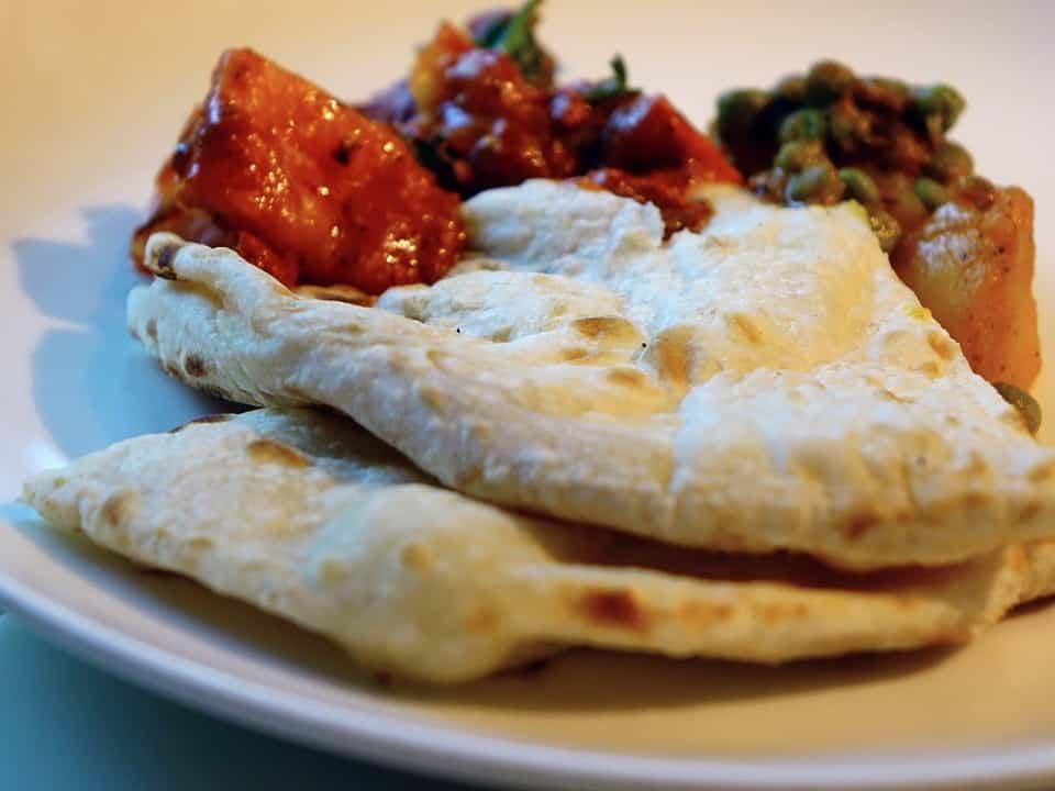 Les naans, le pain indien