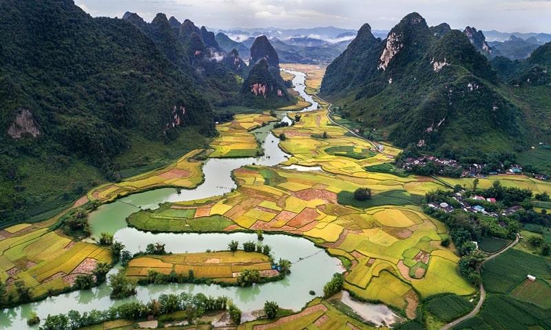 Les paysages de campagne au Vietnam