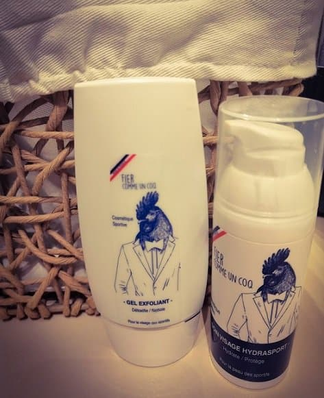 Des produits cosmétiques pour homme de la marque fier comme un coq