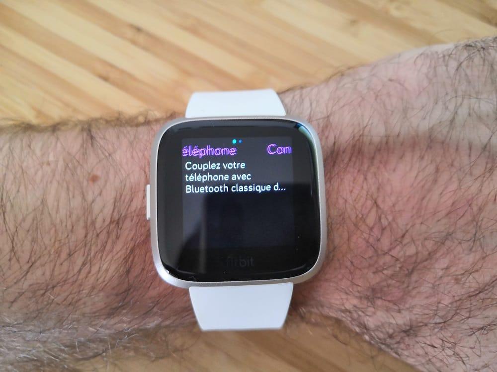 Ecouter musiquye avec Fitbit versa edition lite