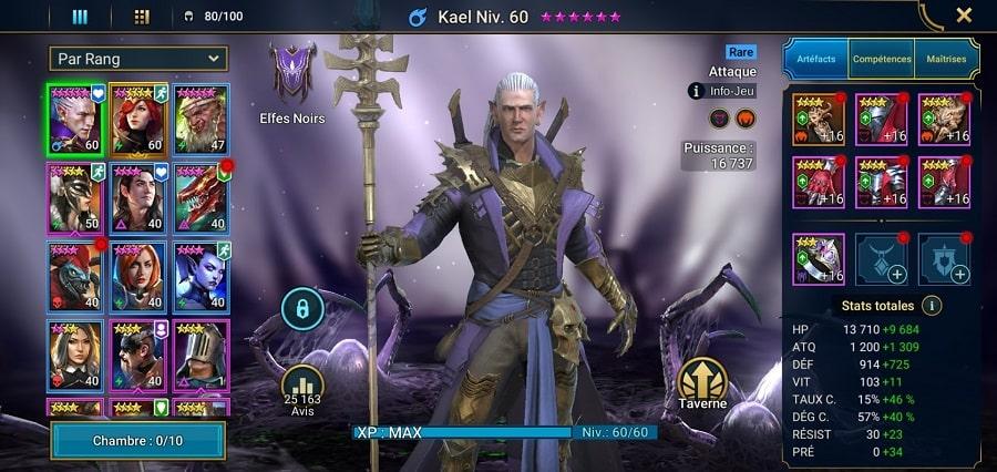 Kael le premier champion à faire évoluer dans Raid Shadow Legend