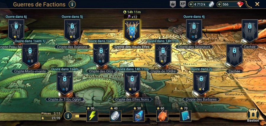 Le mode Guerre de factions dans Raid Shadow Legend