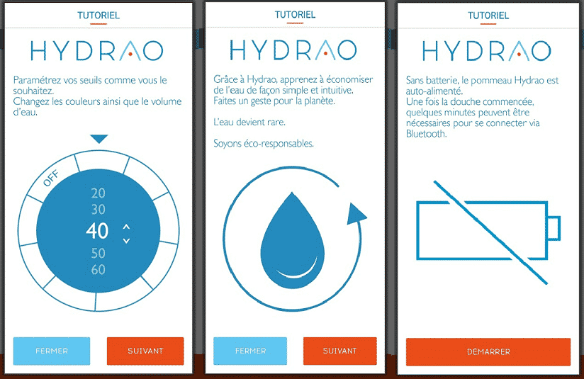 Paramètrer son application HYDRAO