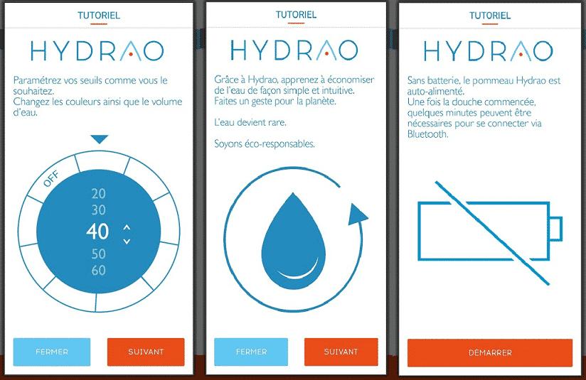 Paramètrer son application HYDRAO