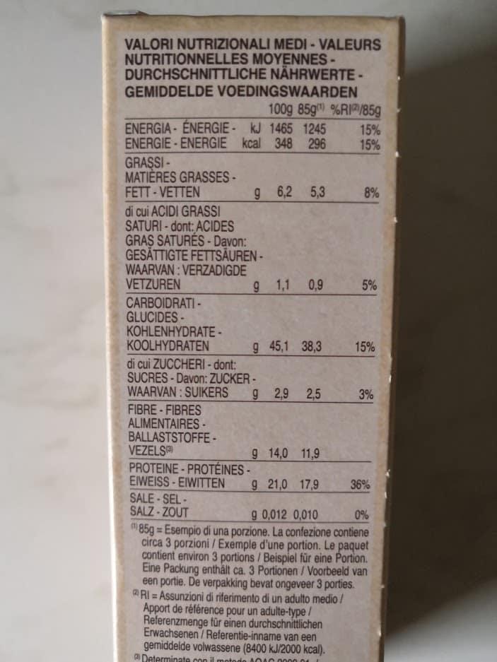 Les étiquettes produits donnent les macro-nutriments